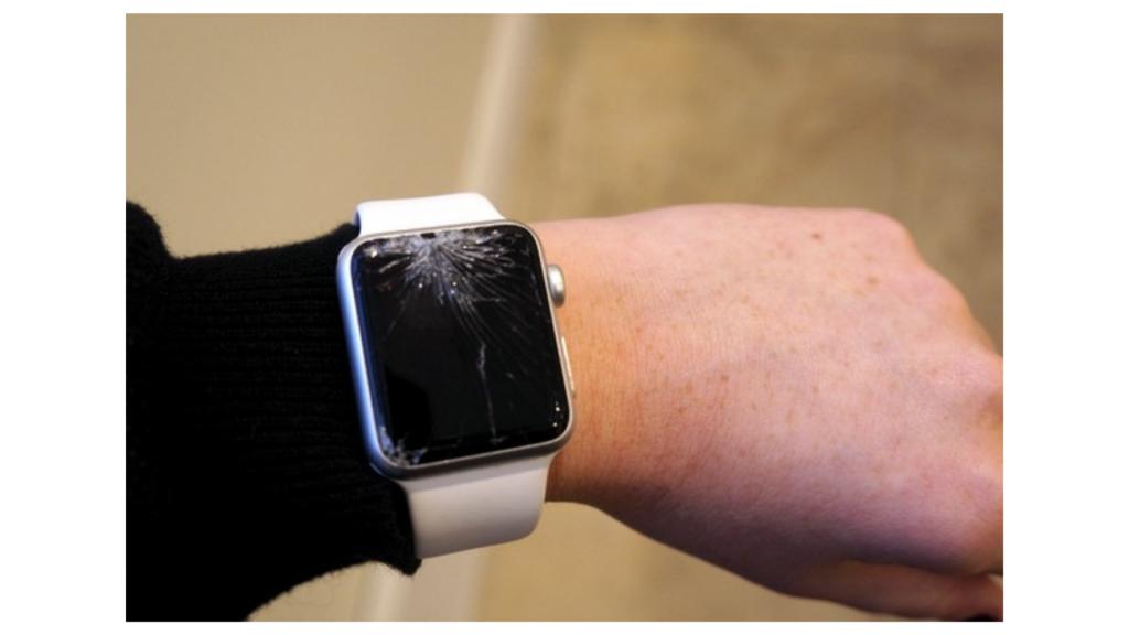 Vidro trincado de Apple Watch.