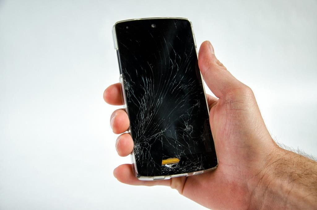 queimar o display do celular